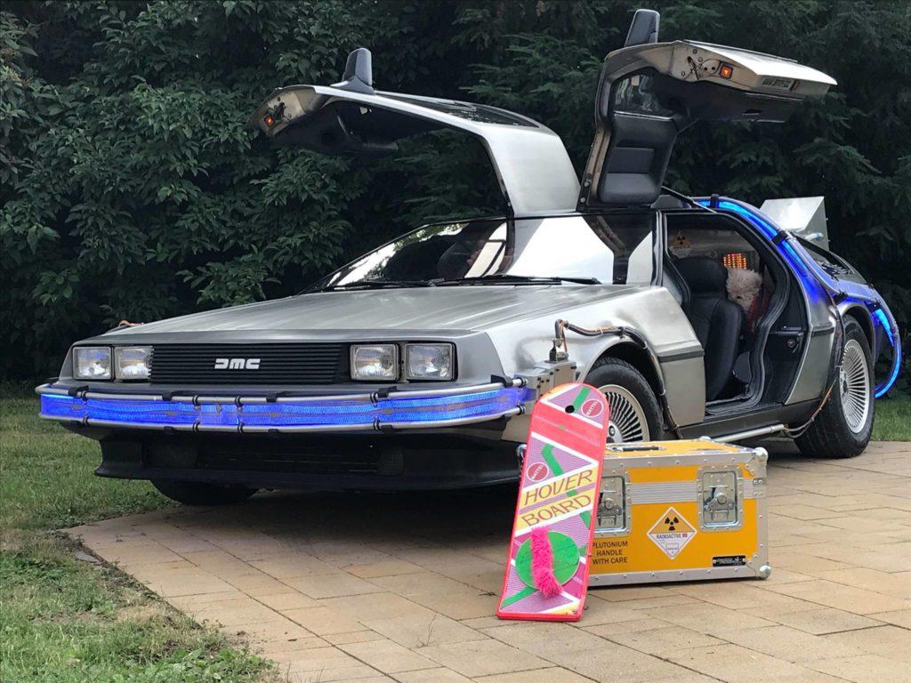 back to the future car mieten